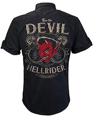 Rockabilly,Mechanic Work Shirt Rock and Roll, V8, Hot Rod, Hellride, S-4XL