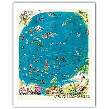 Virgin island artwork from 1951 right! good