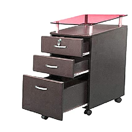 Fine Amazon Com Rolling File Cabinet With Glass Cover Xl Cart 3 Home Interior And Landscaping Pimpapssignezvosmurscom
