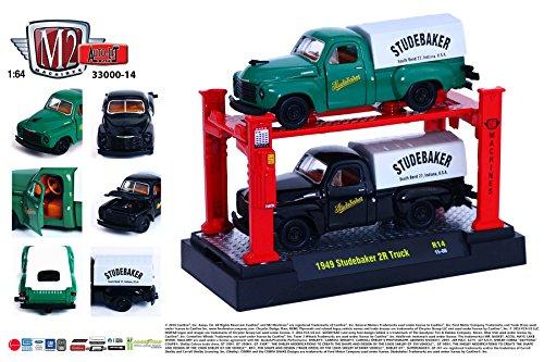 (1949 STUDEBAKER 2R TRUCK (Release 14) * M2 Machines Auto-Lift 2-Pack * 2015 Castline 1:64 Scale Die-Cast Vehicles & Auto-Lift Display Set (R14 15-08))