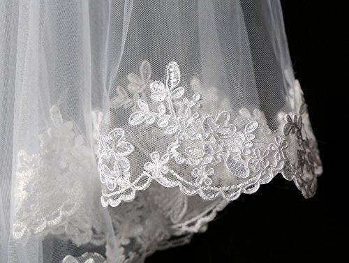 Robe De Mariée En Dentelle De Femmes Solovedress Sirène Robe De Soirée Robe De Mariée Avec Voile De Ceinture Style3 Ivoire