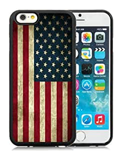 Unique iPhone 6 6S 4.7 Inch TPU Case ,Popular And Durable Designed With American Flag Black iPhone 6 6S Cover