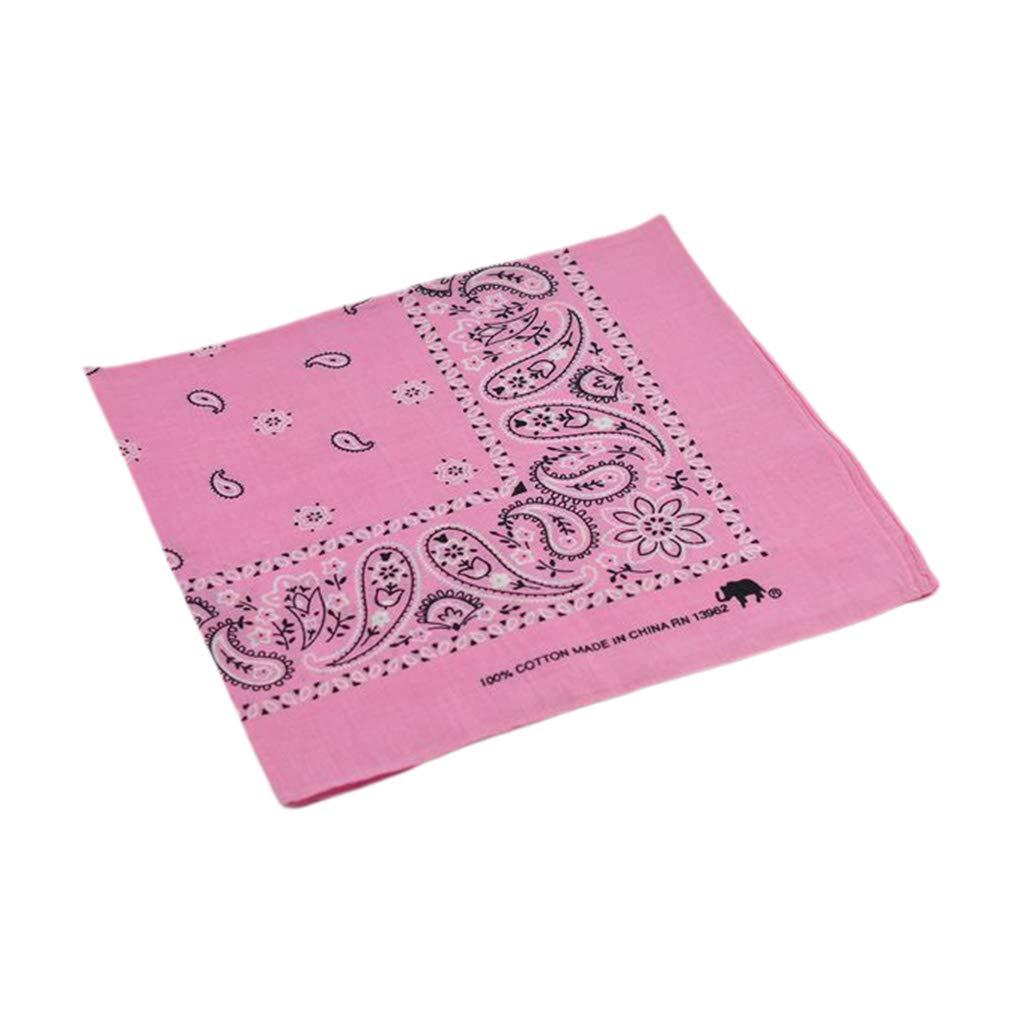 CADANIA 54x54cm Colorido Brillante Unisex Algodón Bandana Headwrap ...