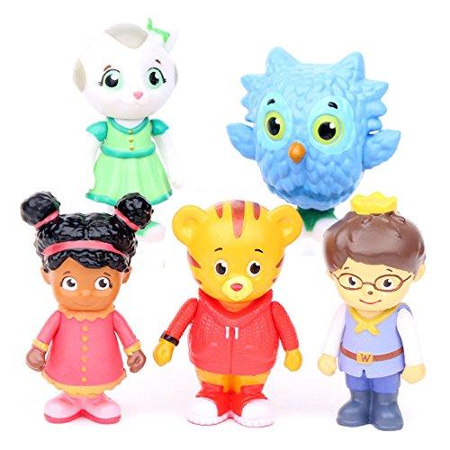 Western Animation Daniel Tiger's Neighborhood Figures Toys Friends 5 Pcs - 6cm