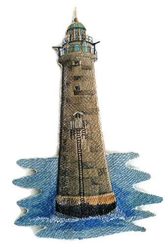 Custom and Unique Lighthouse[Minot Ledge Lighthouse] Embroidered Iron on/Sew patch [9.08