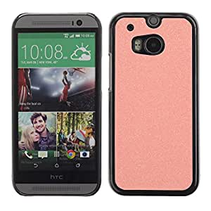 Caucho caso de Shell duro de la cubierta de accesorios de protección BY RAYDREAMMM - HTC One M8 - Plastic Sandpaper Pink