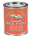 coral paint colors General Finishes Milk Paint (1 Pint, Coral Crush)