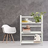 Casual Home  3 Shelf Folding Stackable Bookcase, White