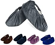 5 Pairs Non Slip Washable Reusable Shoe Covers Thickened Boot Covers for Household, Dust-Free Workshop, House-