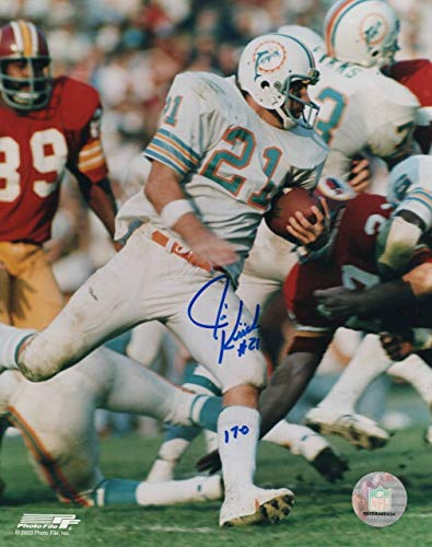 (Jim Kiick Miami Dolphins 8-2 8x10 Autographed Photo - Certified Authentic)