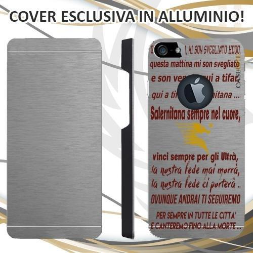 CUSTODIA COVER CASE CORO SALERNITANA PER IPHONE 5S ALLUMINIO TRASPARENTE