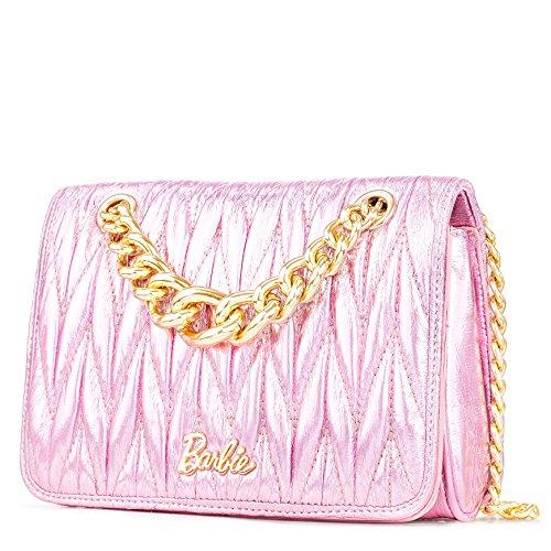 Barbie BBFB521 fashion bolsos baguette de Mujer con borlas Rosa