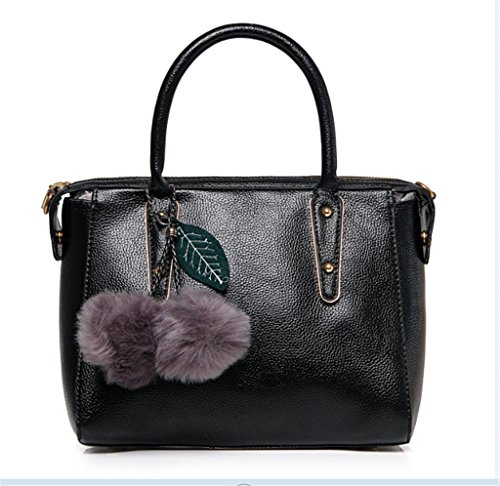 NVBAO Borsa della borsa della signora Fashion Elegante personalità borsa singola della spalla Messenger Bag Shopping Work black