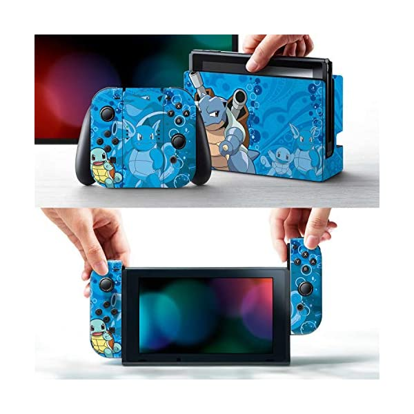 Controller Gear Nintendo Switch Skin & Screen Protector Set - Pokemon - Squirtle Evolutions Set 1 - Nintendo Switch 2