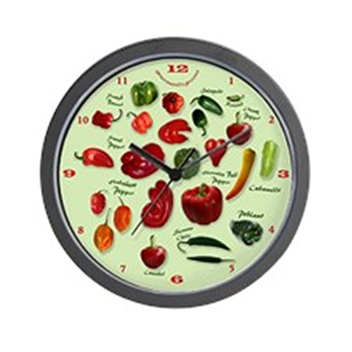 Colorful Chili Peppers Wall Clock - Unique pepper wall decor