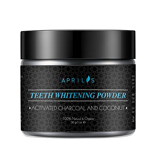 Natural Teeth Whitening Powder, Activated Charcoal Powder with Organic Coconut Oil and Bentonite Clay, Max Clean Smart Foaming Teeth Powder, Remineralizes Teeth, 1 oz Oil Absorbing Clay