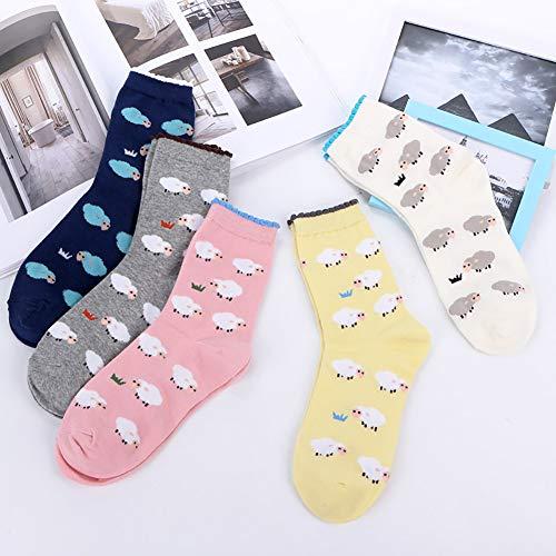Calcetines de Algodón de Mujers - Bakicey calcetines térmicos Adulto Unisex Calcetines (Oveja Casual): Amazon.es: Deportes y aire libre