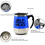 OliaDesign Self Stirring Coffee Mug Electric Stir Stainless Steel Automatic Self Mixing Cup