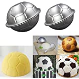 Mini Soccer Ball Pan ✮Football Shape Cake Pan✮DIY Metal Bath Bomb Mold✮ Pudding mold ( 2 Size 2 Set 4 Pieces)By Palker sky