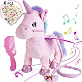 Electronic Pet Unicorn Small Pegasus Pink Musical Singing Toys Kids Gift