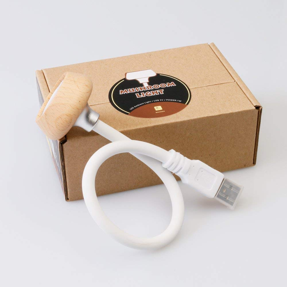 USB Mini Night Reading Light Portable Multifunction Mushroom Table Lamp UltraFire
