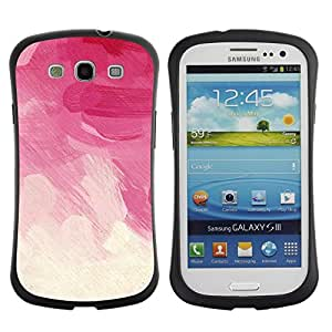 "Hypernova Slim Fit Dual Barniz Protector Caso Case Funda Para SAMSUNG Galaxy S3 III / i9300 / i747 [Brush Strokes Rosa Vignette Nubes florales""]"