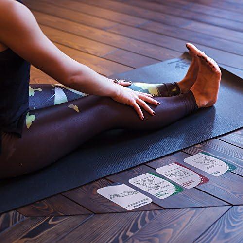 Amazon.com: Tarjeta de 63 esterilla de yoga posturas de Deck ...