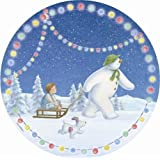 The Snowman and The Snowdog Christmas Party Dinner Plates x 8