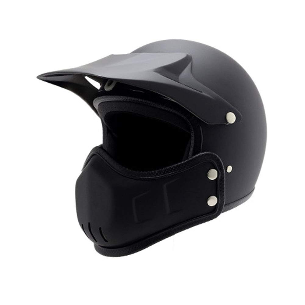 GLEI-TK Retro Harley 3 4 Halber Helm Full Helm Cross Country Helm Multifunktions-Helm Helm Helm Helm,M