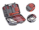 Deluxe Barbeque Tools Set 18 pcs with carrying case