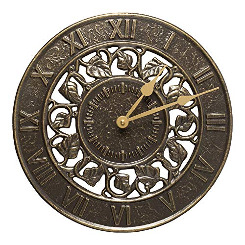 Whitehall Products Ivy Silhouette Clock, French Bronze (Whitehall Products Color)