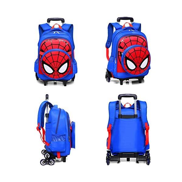 MODRYER I Bambini Spiderman Zaino Set, Studente Ruote Daypack Scuola Impermeabile Borse elementare Studenti Zaino… 2 spesavip