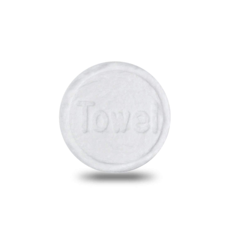 Pentaton 100pcs espandibile Dry salviette usa e getta compressa pulizia tessuti in pastiglie, 100% biodegradabili viscosa