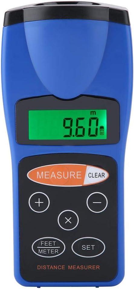 mootea Medidor de Distancia portátil de Rango de medición de Distancia por ultrasonido Digital CP-3008