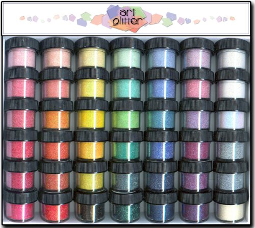 ART GLITTER TRANSPARENT BOX O' COLOR 42 by Art Institute Glitter