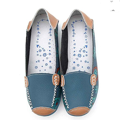 Rcool Mom Flache Schuhe Wilde Freizeitschuhe Blau