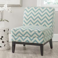 Safavieh Mercer Collection Armond Accent Chair, Blue and White