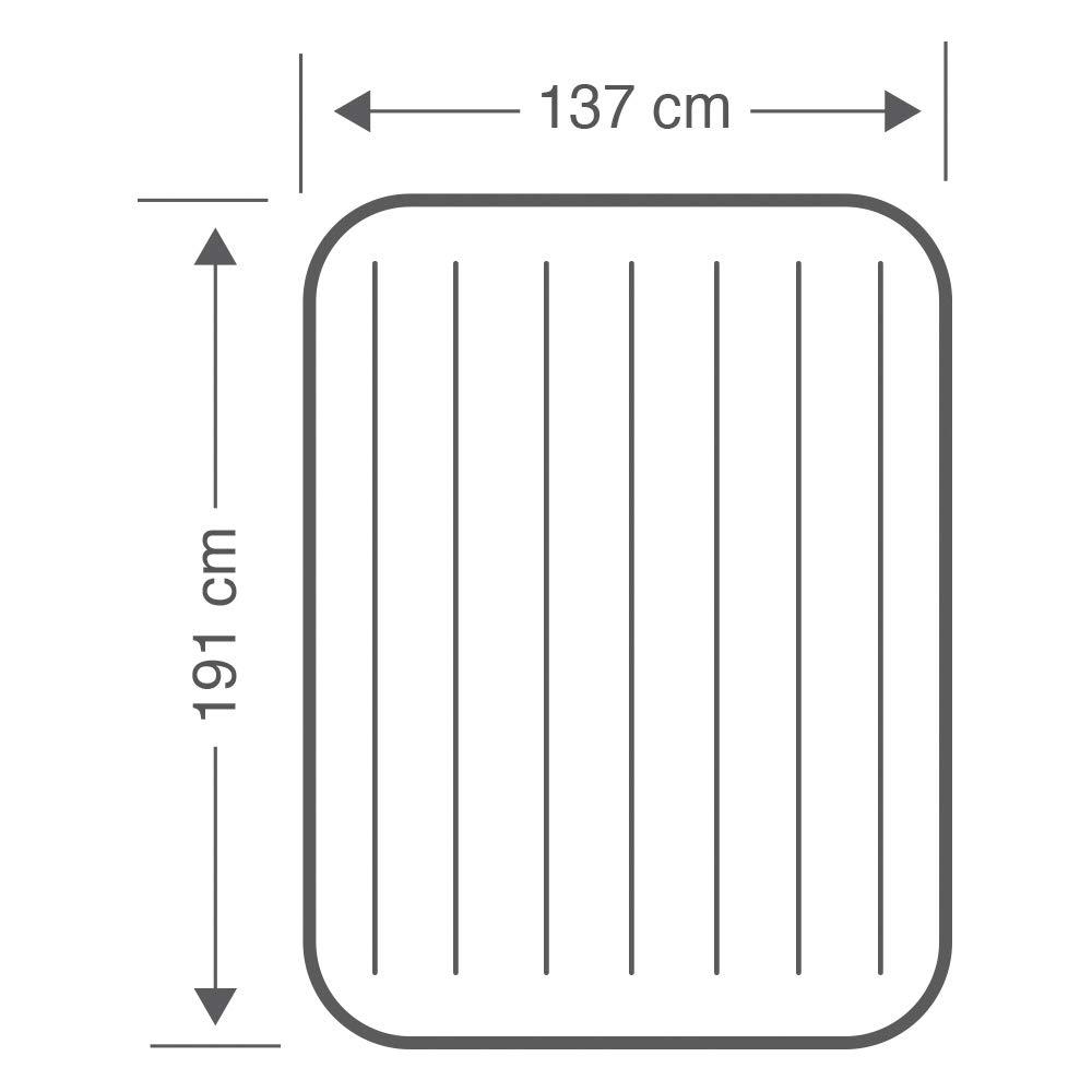 99 x 191 x 25 cm Intex 64101  Dura-Beam Standard Deluxe Single-High Colch/ón hinchable