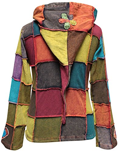 Femme veste PATCHWORK LOVE shopoholic PEACE Fashion HIPPIE UWAvnqp6