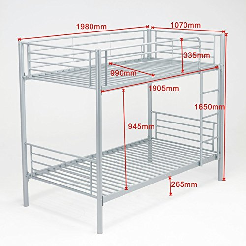 Ladder kids adult children frame metal twin beds bunk bedroom over twin - Delivery Next Day Uk Free