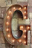 Custom marquee letter 18″ – 48″ or Larger wall letter light Marquee Sign Industrial lighting w/Metal, Large Light Bulb Letter Sign child's Wall Light Marquee Sign