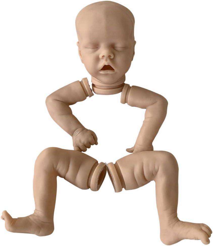 18 Inches Unfinished Baby Doll Kits DIY Reborn Sleeping Baby Doll Cloth Body Soft Vinyl