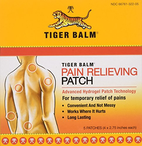 "Tiger Balm Patch, Pain Relieving Patch, 4""x2.75"",  5-Count Packages (Pack of 6)"