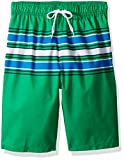 Kanu Surf Big Boys' Archer Stripe Quick Dry Beach Board Shorts Swim Trunk, Green, Small (8)