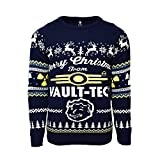 Official Fallout 4 Vault Tec Christmas Jumper/Ugly Sweater UK L/US M Blue