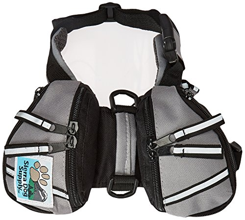 Doggles Dog Backpack Gray Black product image