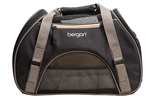 """Bergan Comfort Carrier for Pets, Brown and Black, Small 16""""L x 8""""W x 11""""H"""