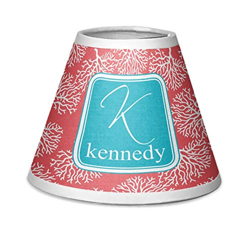 RNK Shops Coral & Teal Chandelier Lamp Shade (Personalized)