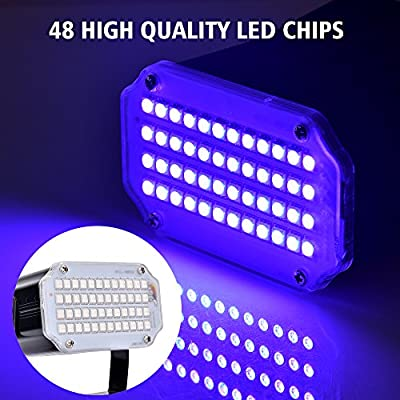 BASEIN Stage Lights with Remote Control Adjustable Speed 7 Modes Party Lights with Super Bright 48 LED Strobe Light for Halloween Christmas DJ Home Party Festival Dancing Bar Club Wedding from BASEIN