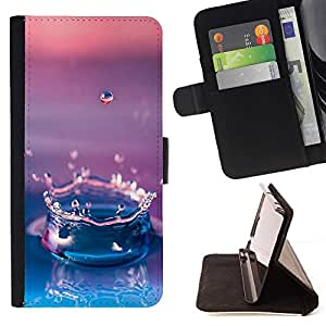 Momo Phone Case / Flip Funda de Cuero Case Cover - Agua Gota Gradiente púrpura - Sony Xperia Z2 D6502